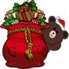 CandyASSによるかわいいサンタのクマさんステッカーステッカー