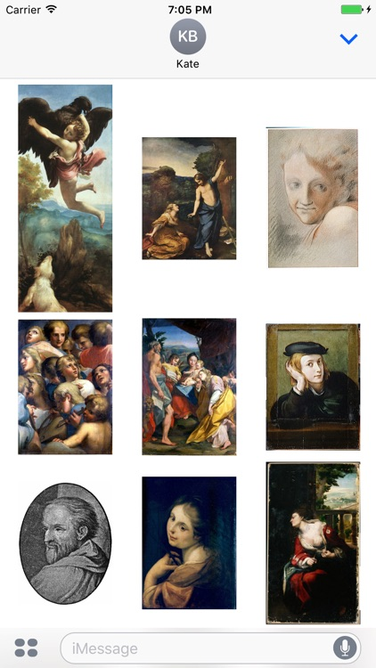Correggio Artworks Stickers