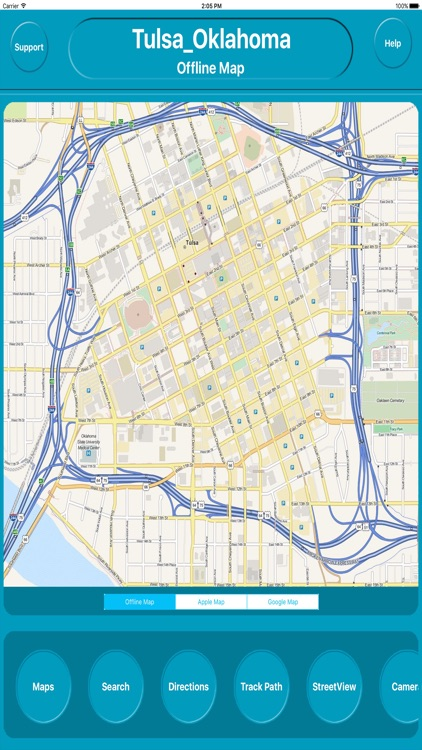 Tulsa Oklahoma Offline City Maps Navigation