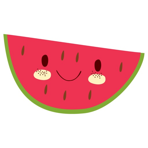 Cute Fruit and Vegetable Fun Food Sticker Pack