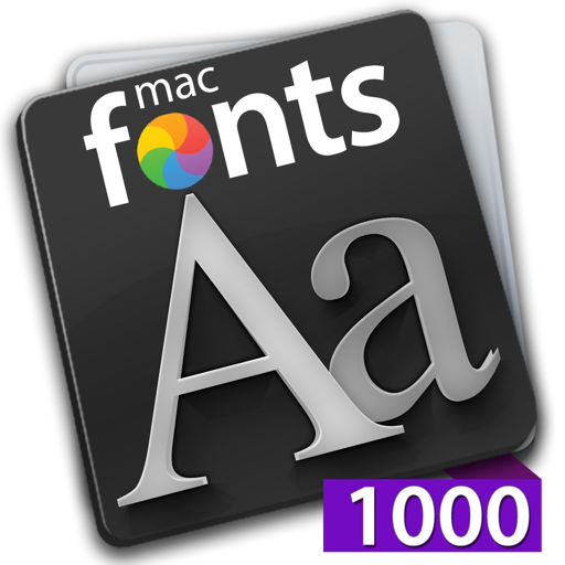 macFonts 1000 Purple