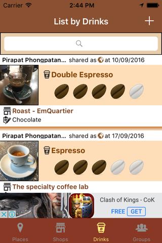 CoffeeDiary - náhled