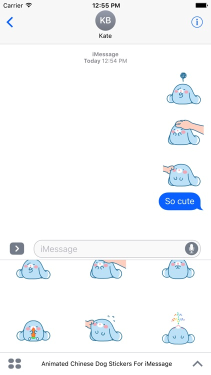 Animated Cute Chinese Dog Stickers For iMessage screenshot-3
