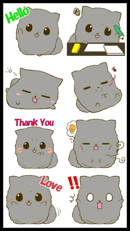 Fluffy Kitty 2 Stickers screenshot-3