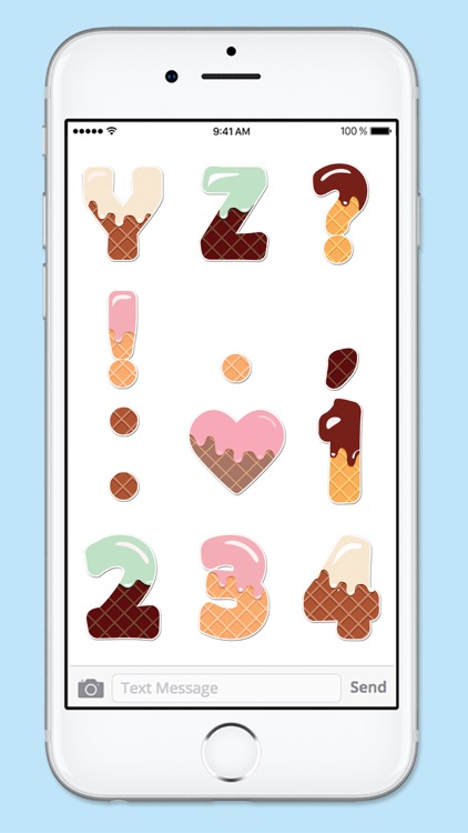 Ice Cream Letters and Numbers Sticker Pack screenshot-4