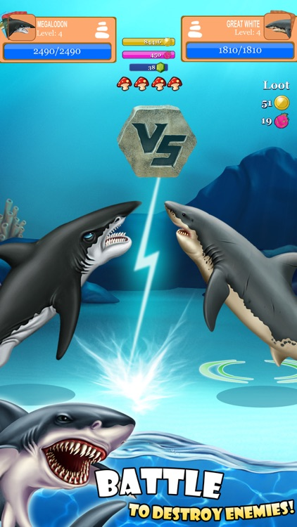 SHARK WORLD: Sharks & Jurassic animal battle games