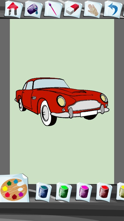 Cars Coloring Book App screenshot-3