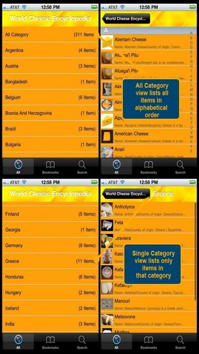 World Cheese Encyclopedia screenshot three