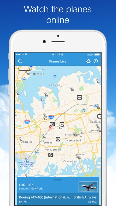 Planes live app flight tracker app for iphone and ipad apps top planes live app features gumiabroncs Gallery