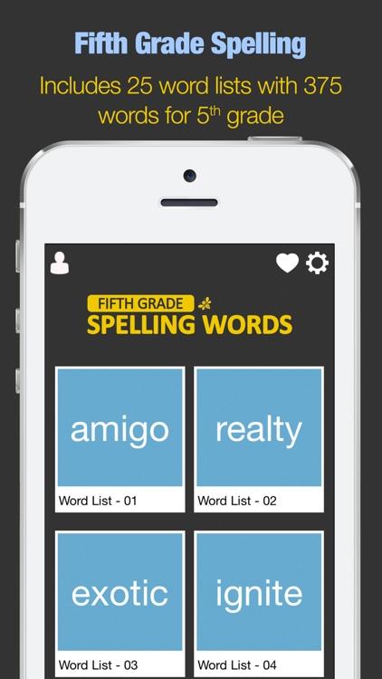 Fifth Grade Spelling Words