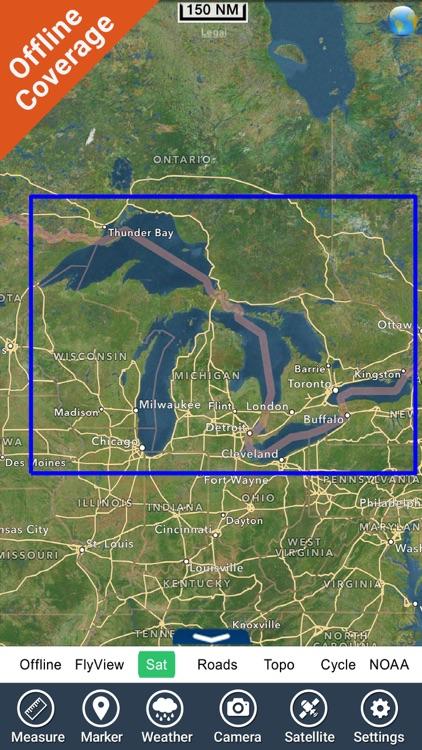Great Lakes HD Nautical Charts screenshot-4