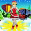 圣诞节圣诞老人地铁 - 冻火车冲浪者
