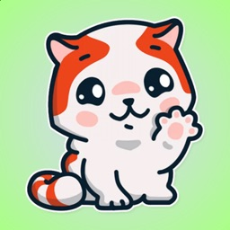 Orange Cute Cat Stickers