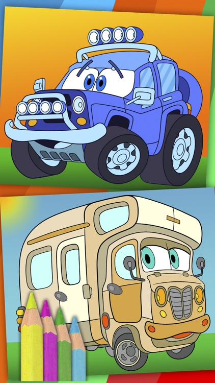 Cars coloring pages for kids – magic coloring book screenshot-3