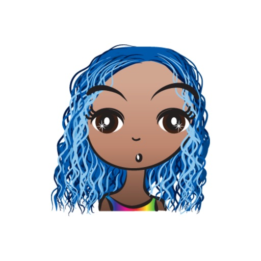 Blue Hair Beauty stickers by wenpei