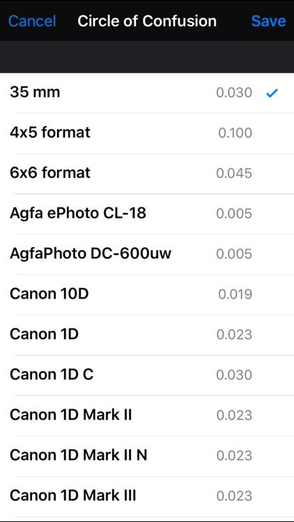 Field Tools (Depth of Field,Photo focus helper)