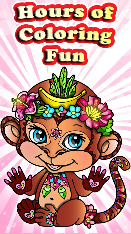 Nature Coloring Books Monkey Lion Pages for Adults