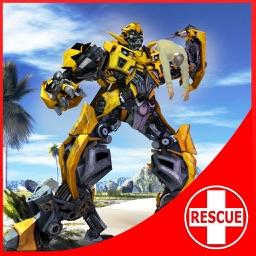 Robot Squad - Beach Rescue: Flying Robot Hero
