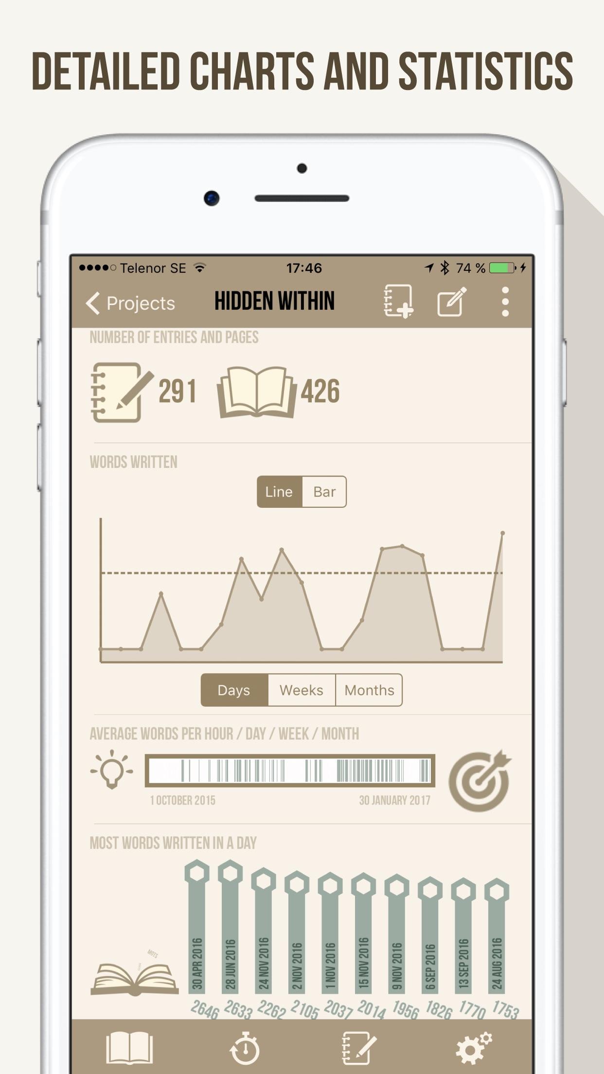 Screenshot do app Word Keeper