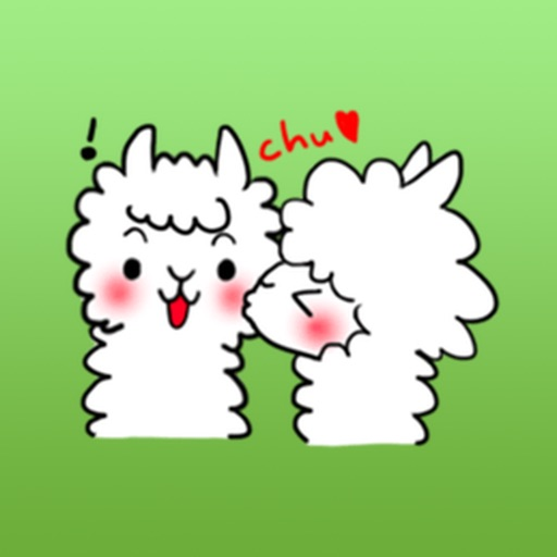 Cute White Alpaca Stickers