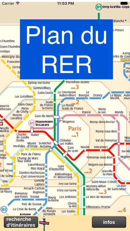 Métro RER de Paris - plan et tinéraire optimal screenshot-3