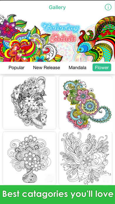 Coloring Me : Coloring Book for Adults screenshot one