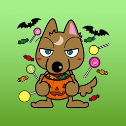 Aki Brownie Wolf Japanese Sticker