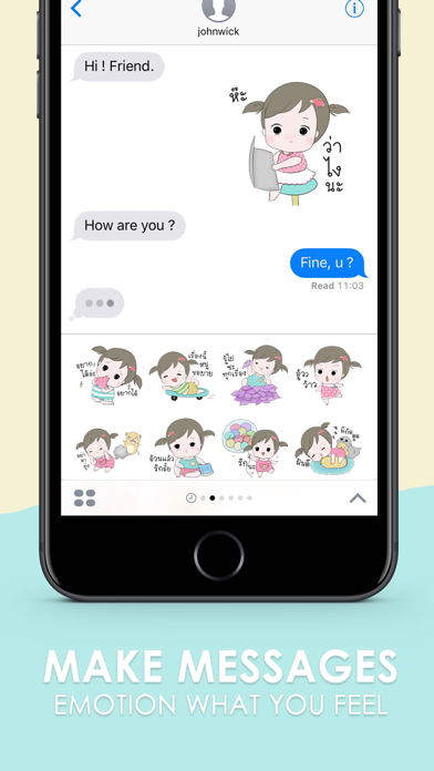 Jeejee Funlam Stickers for iMessage screenshot two