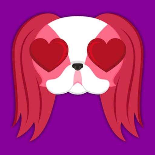 Valentine's Day Japanese Chin Emoji Stickers