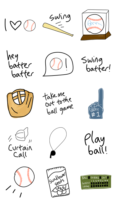 Baseball sticker, sport game stickers for iMessage screenshot two