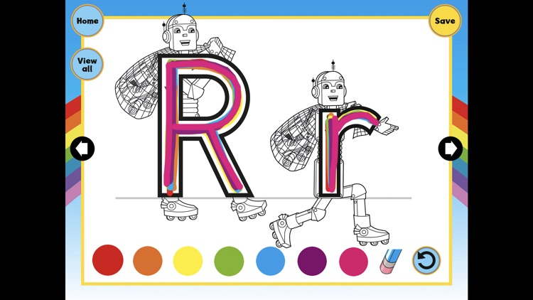 Letterland Rainbow Writing - Trace letter shapes