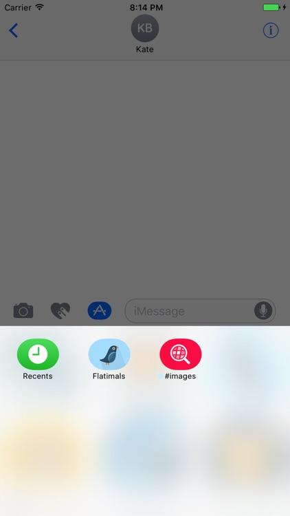 Flatimals - Flat Animal Sticker Pack for iMessage screenshot-4