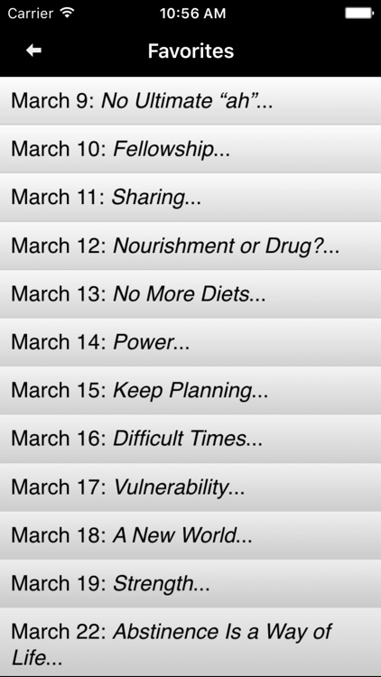 Food for Thought: Daily Meditations for Overeaters screenshot-3
