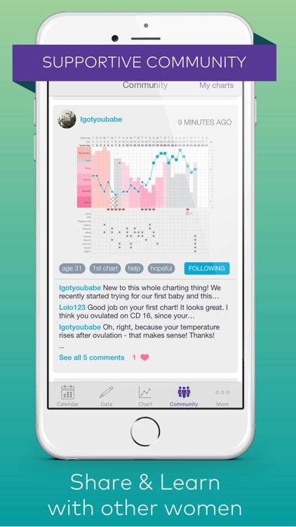 Kindara: Fertility & Ovulation Tracker, Pregnancy screenshot-3