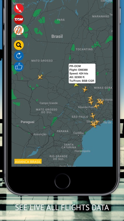 Air BR Free : Live flight Status & Radar screenshot-1