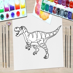 Dinosaur Kid Coloring Book 2 -Relaxing your stress