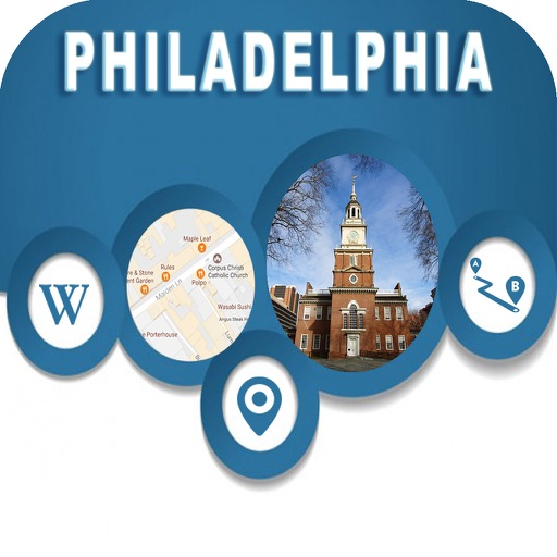 Philadelphia PA USA Offline City Maps Navigation