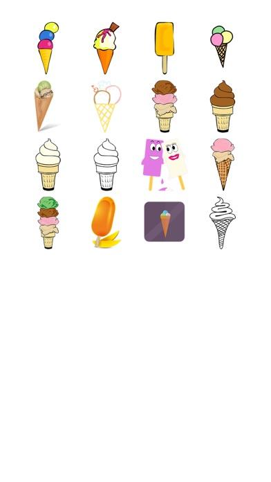 冰淇淋八貼紙包屏幕截圖1