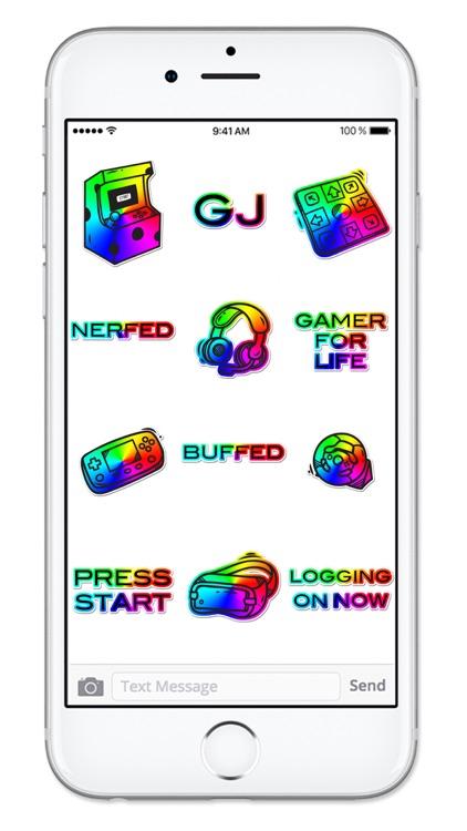 Video Game Gamer Rainbow Sticker Pack screenshot-3