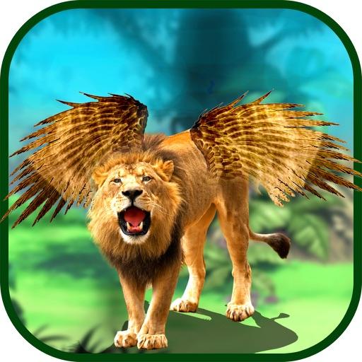 Летающий лев Симулятор: Злой дикий бой животных
