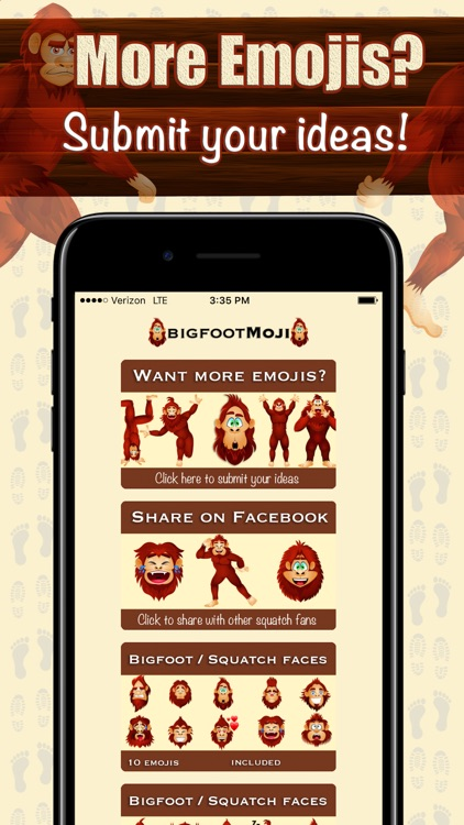 BigfootMoji – Crazy Sasquatch & Bigfoot Emojis screenshot-4