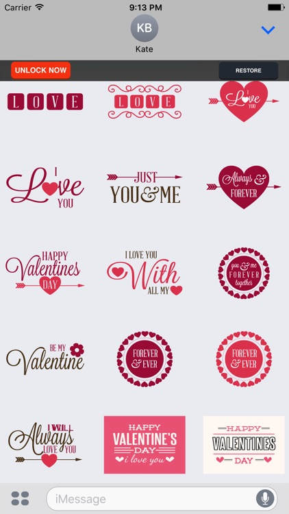I Love You - Couple Stickers for Valentine's Day screenshot-3