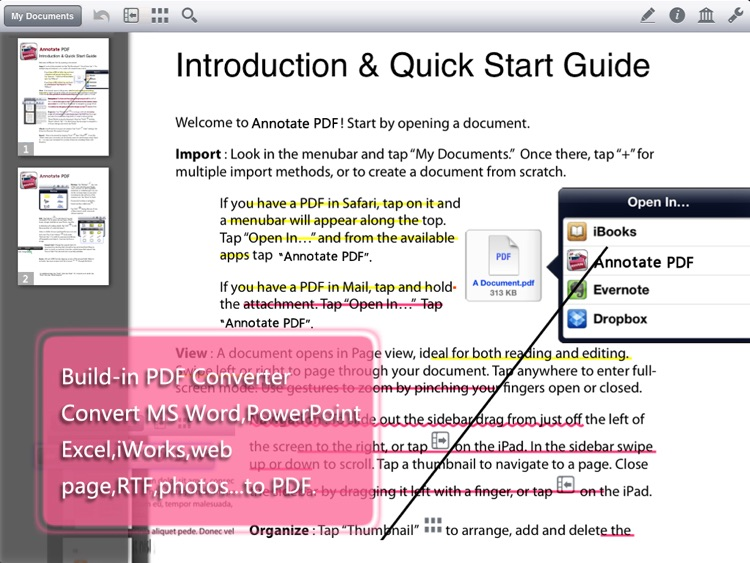 PDF Editor Pro - Take Note, Sign & Fill Forms screenshot-2