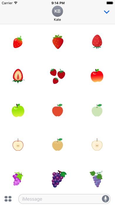 Nette Frucht AufkleberScreenshot von 2