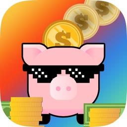 Piglet Piggy Bank - Street Basketball