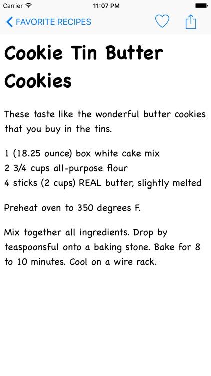 Cookie Recipes HD screenshot-3