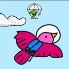 Amazing Doodle Skydive - Space Bird vs. Aliens mit Fallschirmen icon