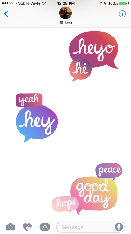 Heyo - Beautiful Handwritten Color Speech Bubble screenshot-3