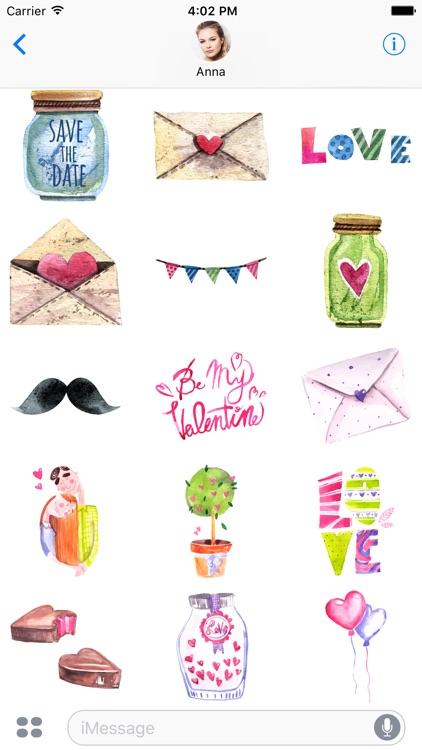 Watercolor Valentine - Mega Bundle 60 Stickers