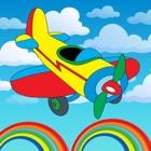 子供のための飛行機のぬりえの本のページ icon